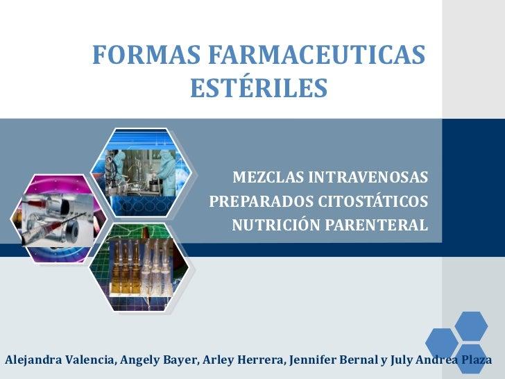Formas Farmaceuticas Estériles (UMIV)