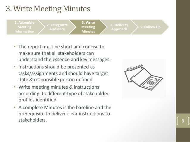 How to write a minute of meeting?