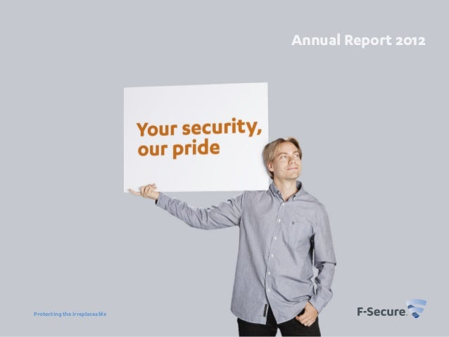 F-Secure's Annual Report 2012