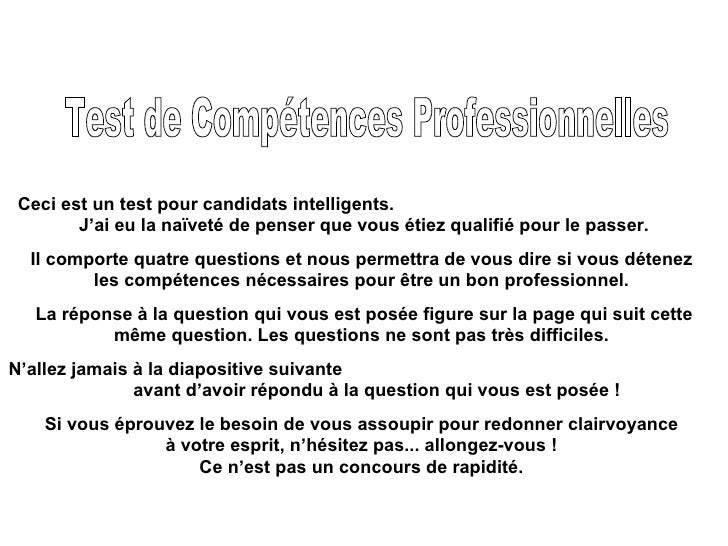 F Testde Competence Sn L Fabien