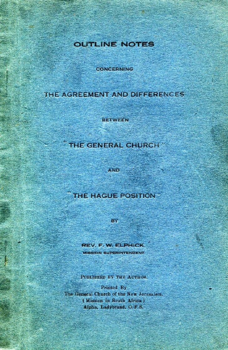 F w-elphick-outline-notes-the-general-church-the-hague-position-alpha-ladybrand-ofs-south africa-1939