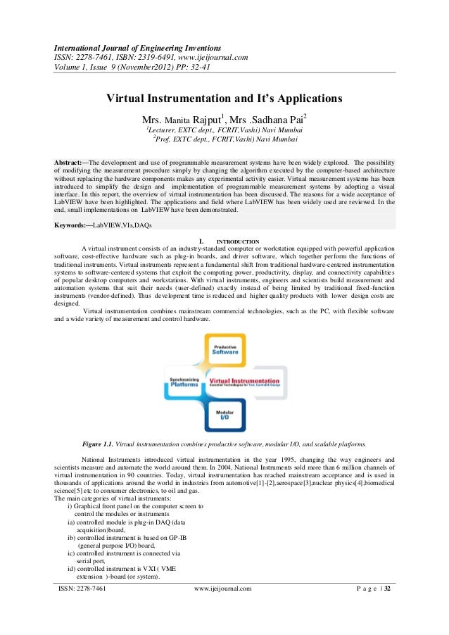 International Journal of Engineering InventionsISSN: 2278-7461, ISBN: 2319-6491, www.ijeijournal.comVolume 1, Issue 9 (Nov...