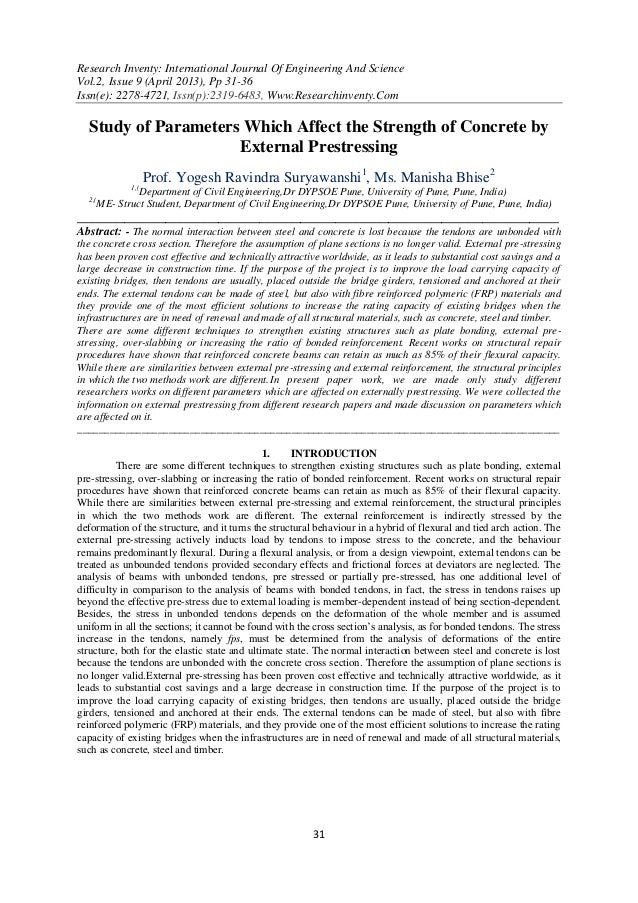 Research Inventy: International Journal Of Engineering And ScienceVol.2, Issue 9 (April 2013), Pp 31-36Issn(e): 2278-4721,...