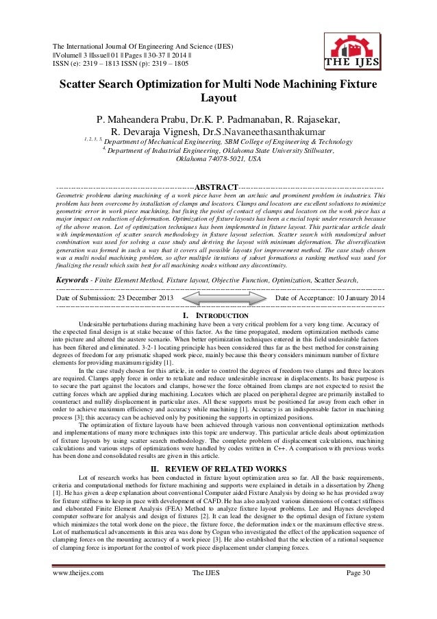 The International Journal Of Engineering And Science (IJES) ||Volume|| 3 ||Issue|| 01 || Pages || 30-37 || 2014 || ISSN (e...