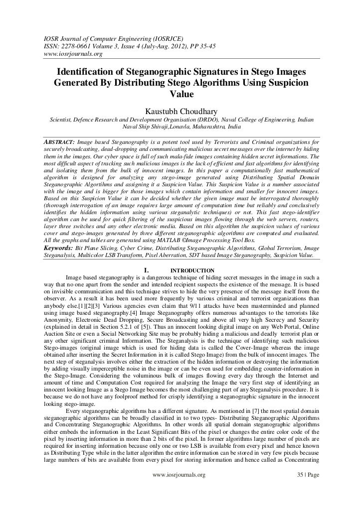 IOSR Journal of Computer Engineering (IOSRJCE)ISSN: 2278-0661 Volume 3, Issue 4 (July-Aug. 2012), PP 35-45www.iosrjournals...