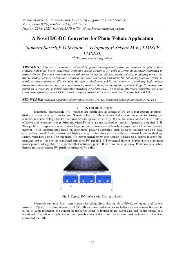Research Inventy: International Journal Of Engineering And Science Vol.3, Issue 8 (September 2013), PP 32-39 Issn(e): 2278...