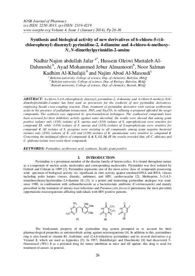 IOSR Journal of Pharmacy (e)-ISSN: 2250-3013, (p)-ISSN: 2319-4219 www.iosrphr.org Volume 4, Issue 1 (January 2014), Pp 26-...