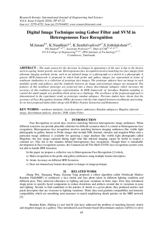 Research Inventy: International Journal of Engineering And Science Vol.4, Issue 4 (April 2014), PP 45-52 Issn (e): 2278-47...