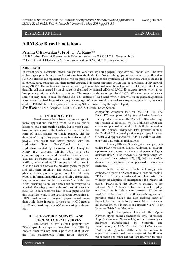 Pranita C Bawankar et al Int. Journal of Engineering Research and Applications www.ijera.com ISSN : 2248-9622, Vol. 4, Iss...