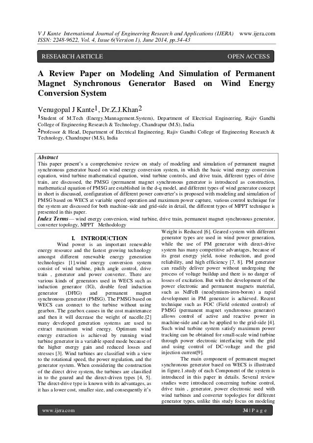 V J Kante International Journal of Engineering Research and Applications (IJERA) www.ijera.com ISSN: 2248-9622, Vol. 4, Is...