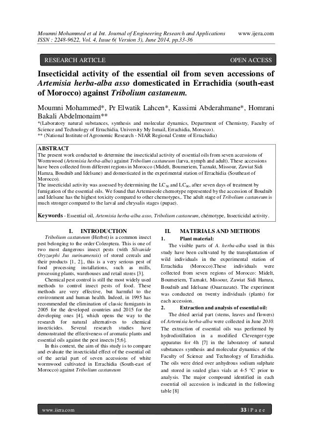 Moumni Mohammed et al Int. Journal of Engineering Research and Applications www.ijera.com ISSN : 2248-9622, Vol. 4, Issue ...
