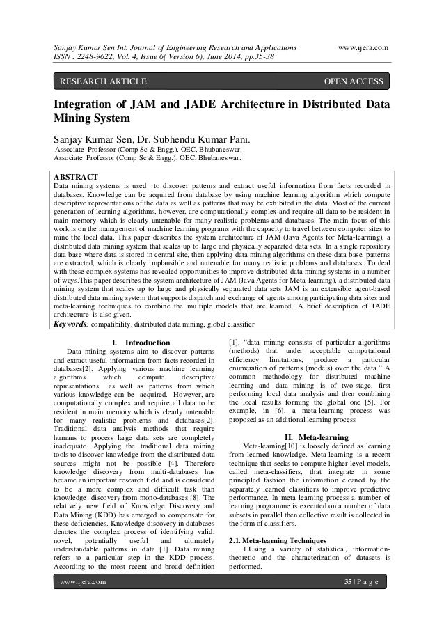 Sanjay Kumar Sen Int. Journal of Engineering Research and Applications www.ijera.com ISSN : 2248-9622, Vol. 4, Issue 6( Ve...