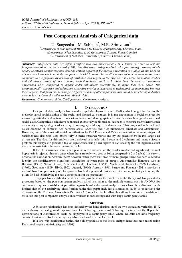 IOSR Journal of Mathematics (IOSR-JM)e-ISSN: 2278-5728.Volume 5, Issue 6 (Mar. - Apr. 2013), PP 20-23www.iosrjournals.orgw...