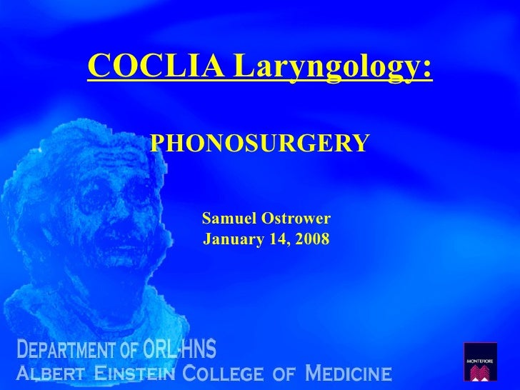 F081 Coclia 75 Phonosurgery