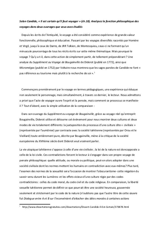 introduction dissertation conte philosophique Retenez donc que pour une introduction de dissertation au lycée, on exige : le  sujet  le recours à la fiction (fable, conte philosophique, portrait satirique,.