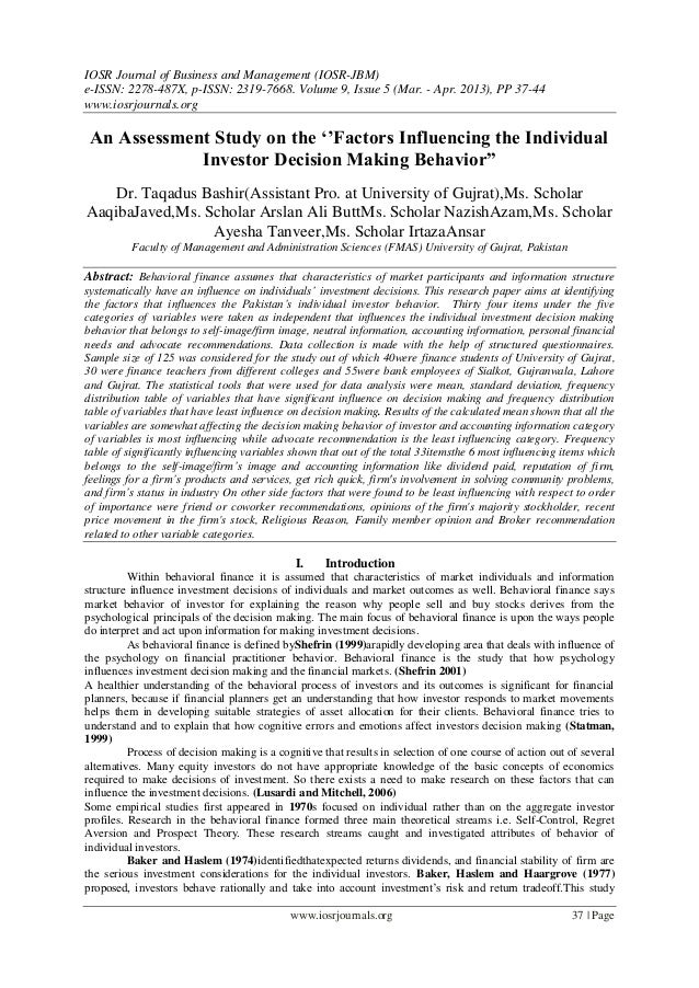 IOSR Journal of Business and Management (IOSR-JBM)e-ISSN: 2278-487X, p-ISSN: 2319-7668. Volume 9, Issue 5 (Mar. - Apr. 201...