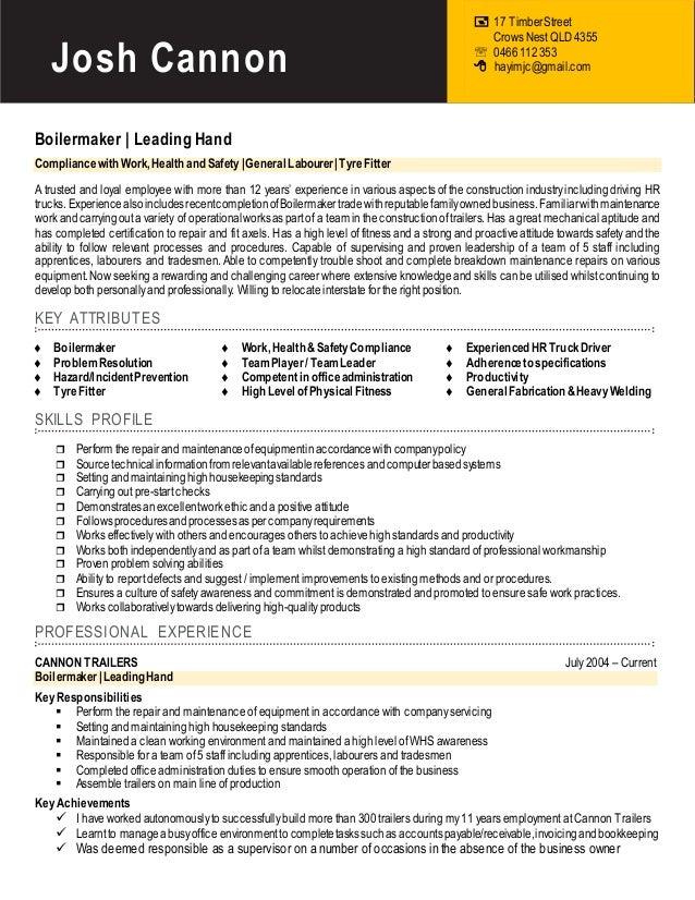 Welding resumes examples