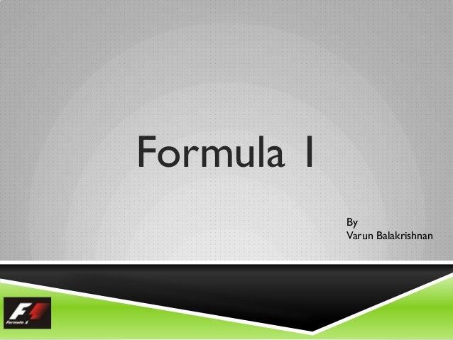 Formula 1 By Varun Balakrishnan