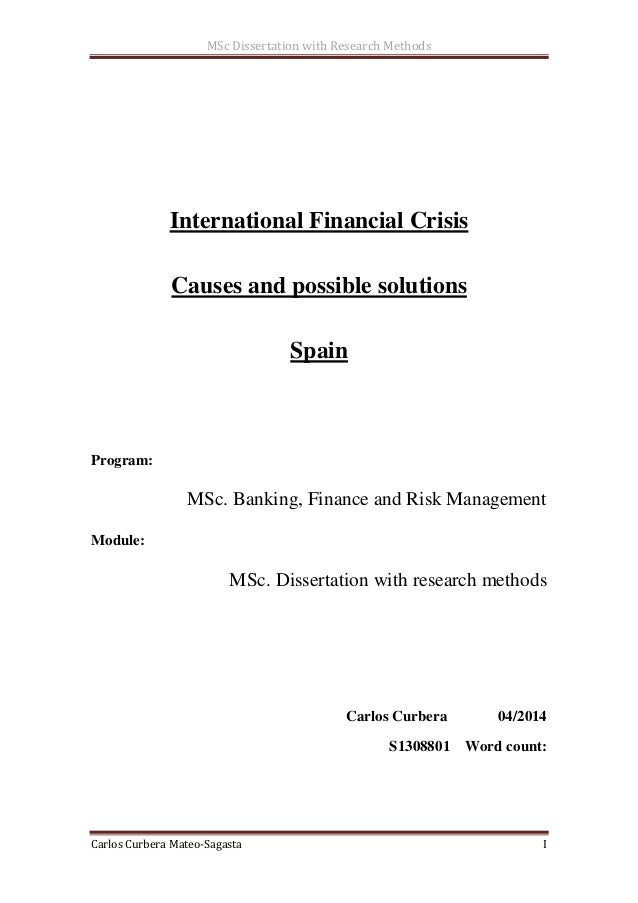 Dissertation in financial economics