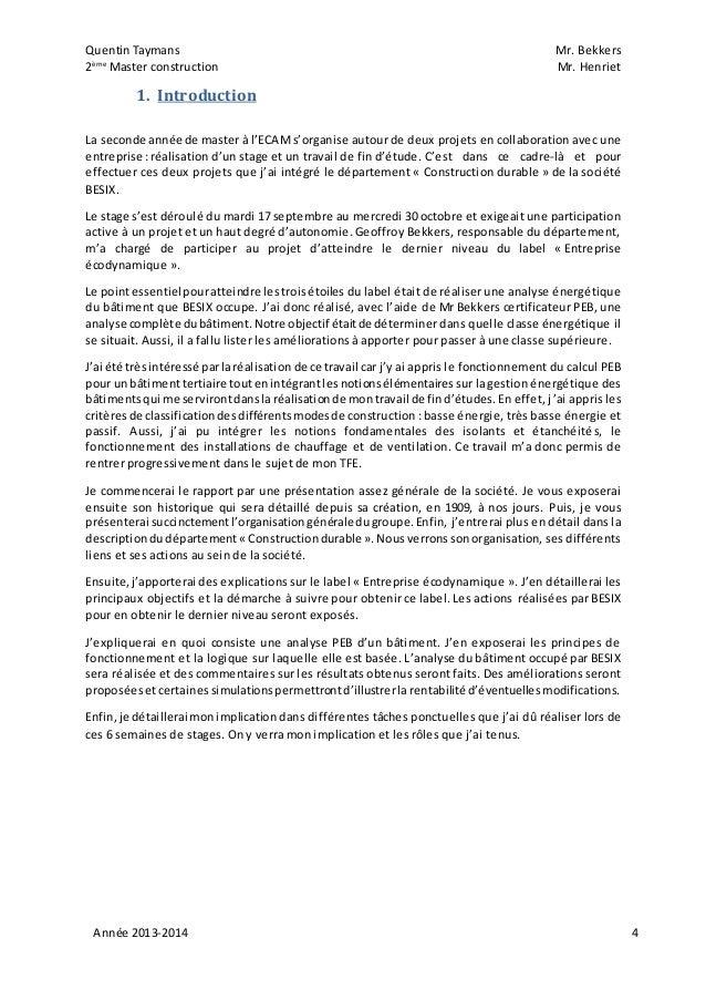 exemple d introduction de rapport de stage pdf