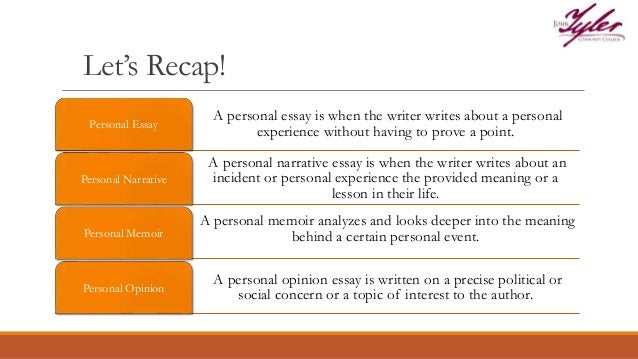 Sample Personal Narrative Essay