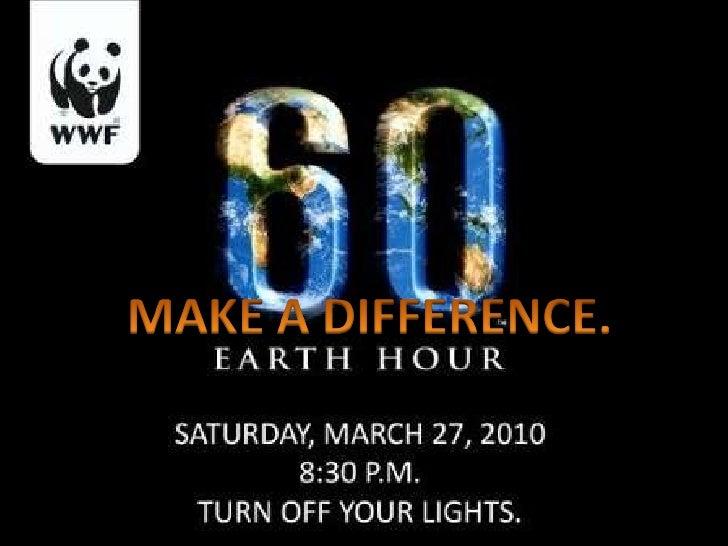 Kellys Earth Hour 2010 Presentation