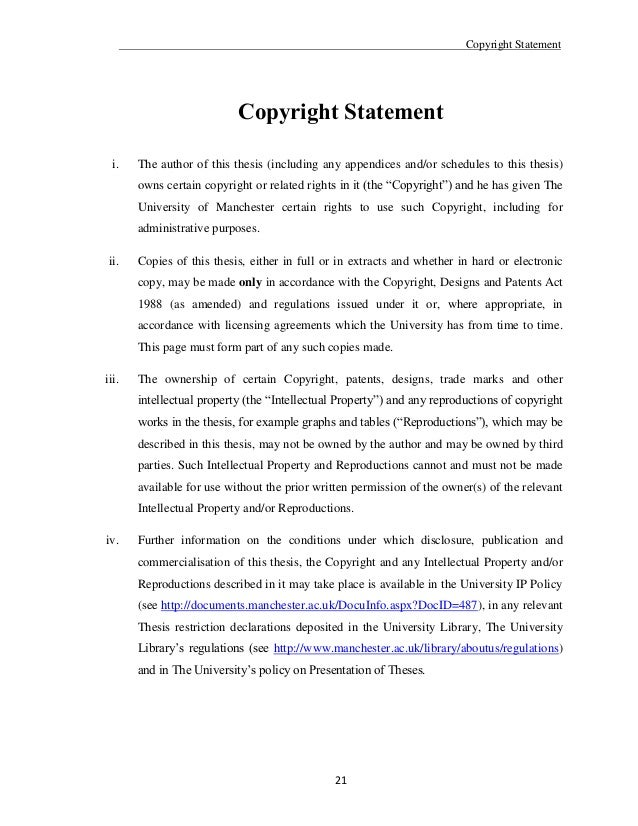Phd thesis copyright