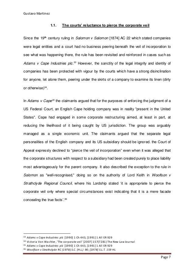 salomon v a salomon co ltd essay Why is salomon v salomon and company ltd decision significant to the law of companies  essay assignment help  salomon v salomon and co ltd.