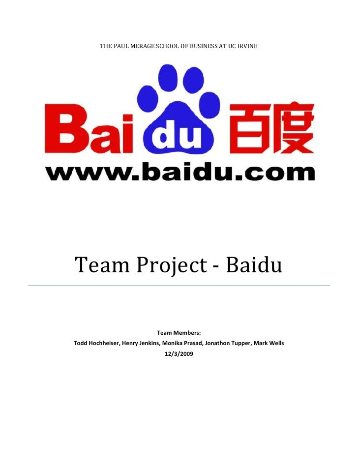 Baidu Valuation Analysis