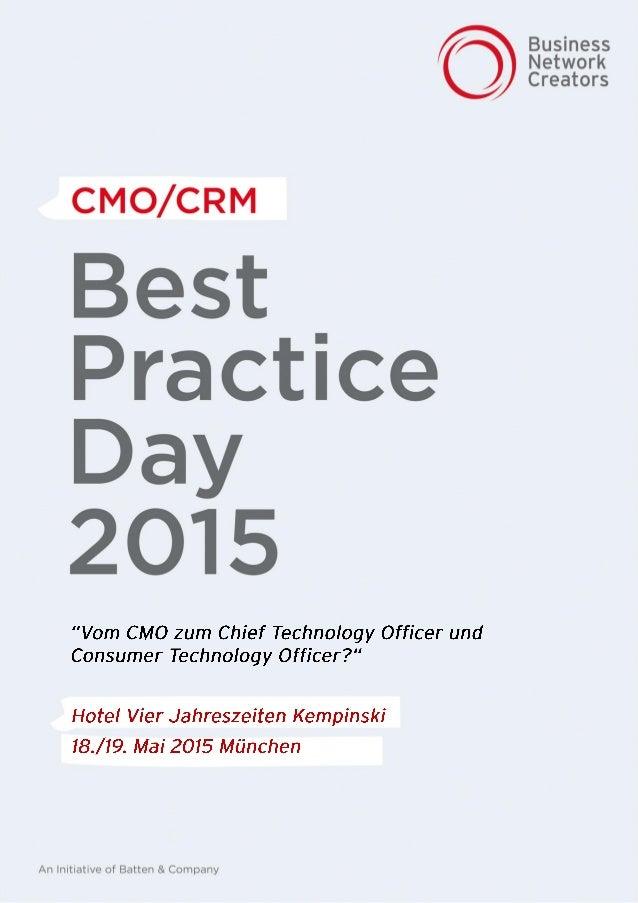 | BestPractice Day 2015 | CMO / CRM | Die Branche ist eine andere, die Herausforderungen die gleichen. Personalisierung, D...