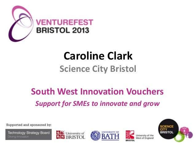 VFB 2013 - Grants and vouchers - South West Innovation Vouchers