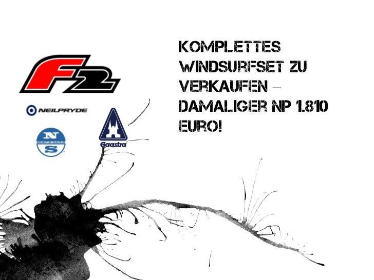 KomplettesWindsurfset zuverkaufen –damaliger NP 1.810Euro!