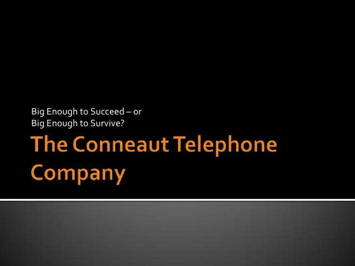 F2C 2012: Conneaut Telephone Co.