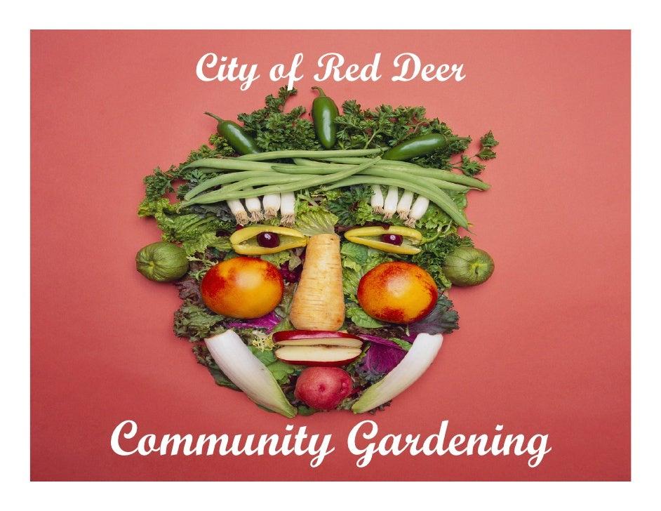 City of Red Deer     Community Gardening