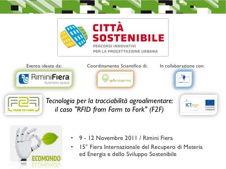RFID from Farm to Fork 12 November 2011 Ecomondo, Rimini