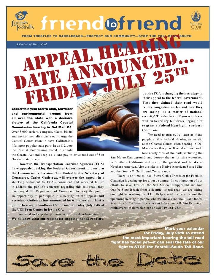 Summer 2008 Friend to Friend Newsletter, Friends of the Foothills