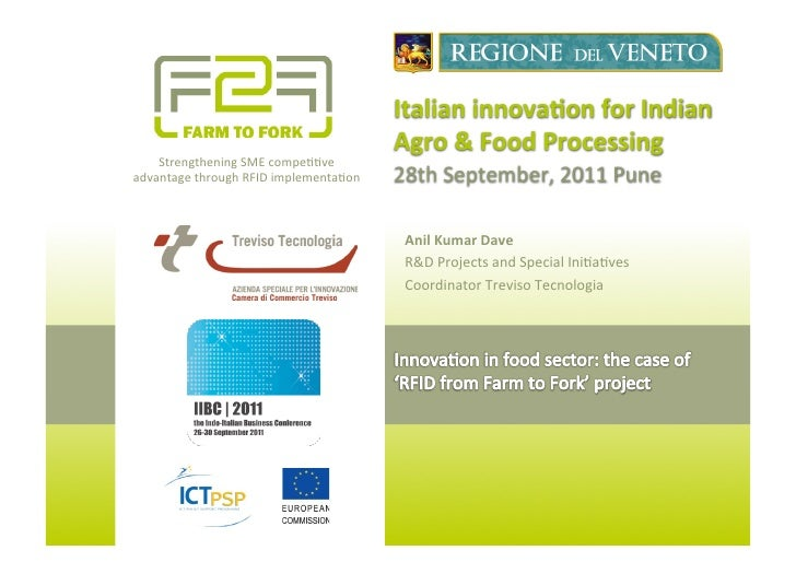 Italian	  innova*on	  for	  Indian	                                                      Agro	  &	  Food	  Processing	    ...