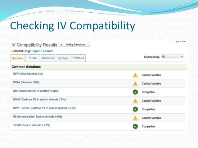 Iv Medication Compatibility Images  Reverse Search