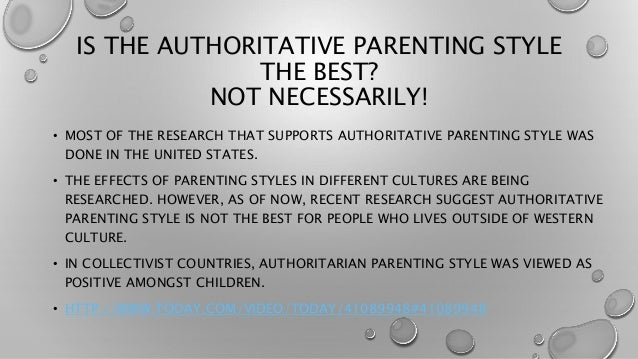 effects of different parenting styles The next two styles are defined as parents that neglect their children in different ways permissive parents are highly responsive to their children, but neglect the demanding side of parenting these parents do not discipline their children much at all, but are responsive to all their desires and wishes.