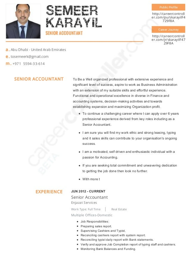 Senior accountant resume pdf