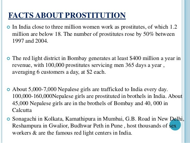 statistics of prostitution in india
