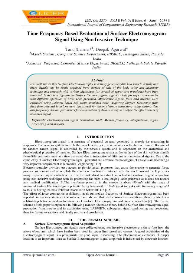 ISSN (e): 2250 – 3005    Vol, 04    Issue, 6    June – 2014    International Journal of Computational Engineering Research...