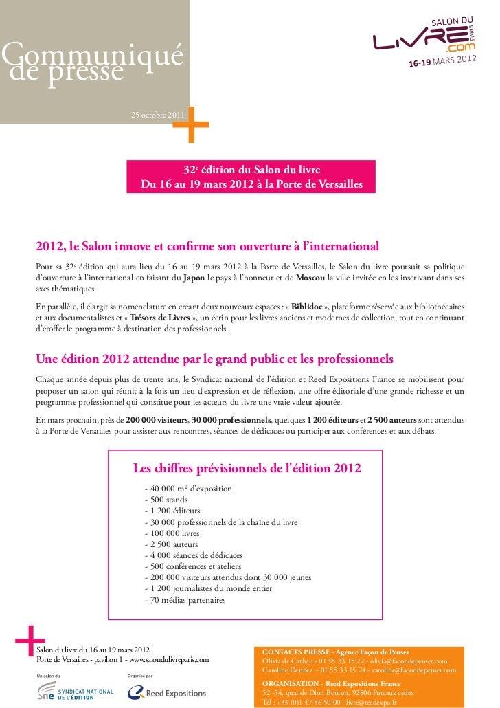 Communiqu 233 De Presse Lancement Salon Du Livre 2012 25