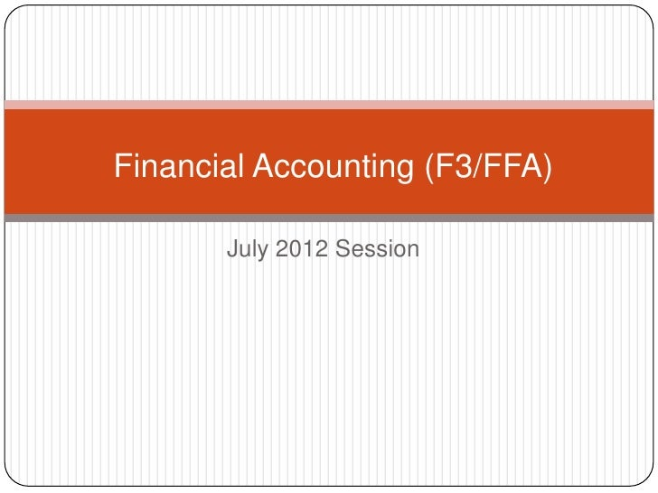 F3 Financial Accounting 1-4