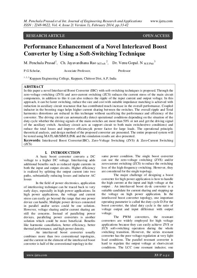 M. Penchala Prasad et al Int. Journal of Engineering Research and Applications ISSN : 2248-9622, Vol. 4, Issue 2( Version ...