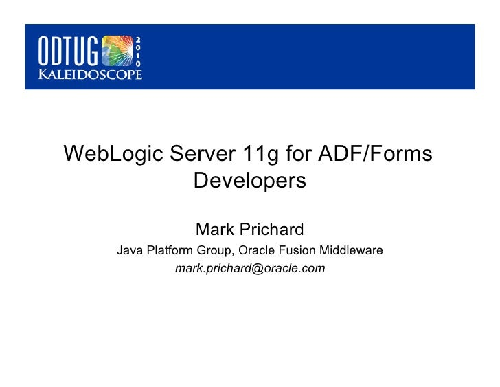 F428435966 odtug   web-logic for developers