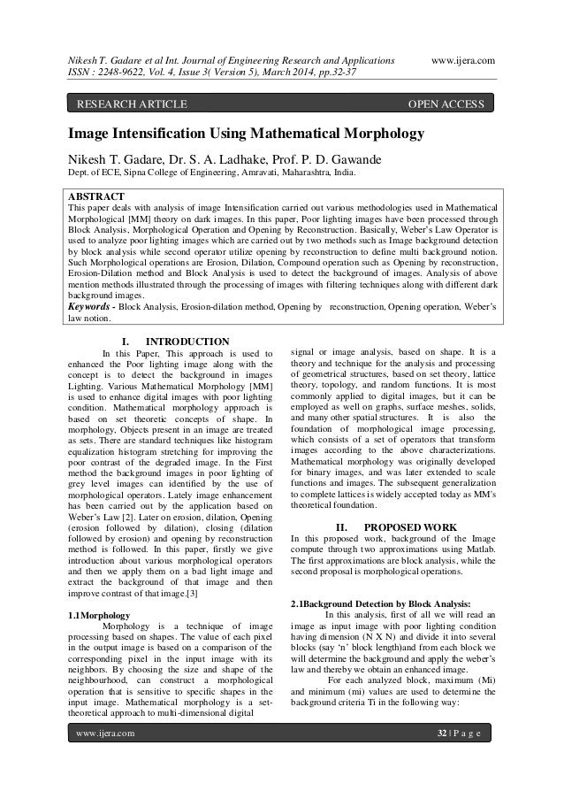 Nikesh T. Gadare et al Int. Journal of Engineering Research and Applications www.ijera.com ISSN : 2248-9622, Vol. 4, Issue...
