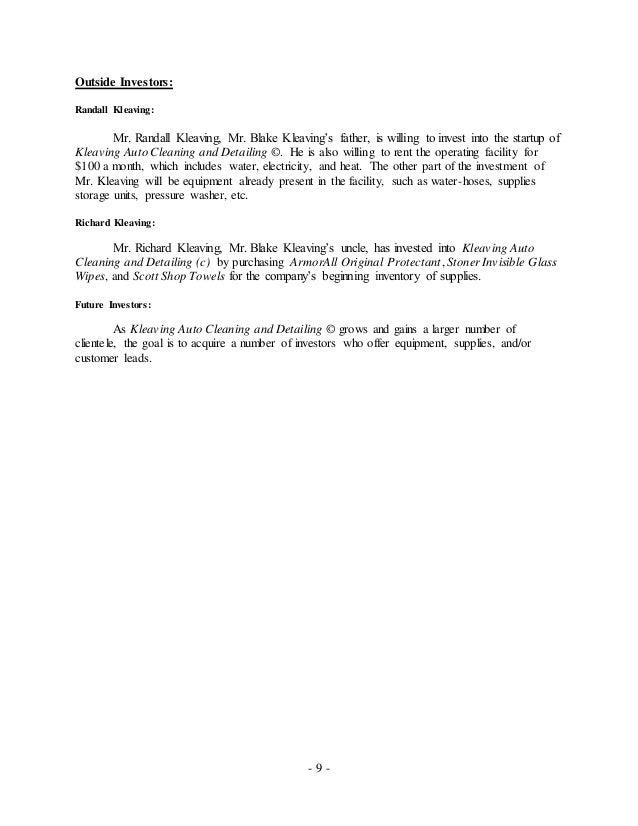 auto detailing business plan pdf
