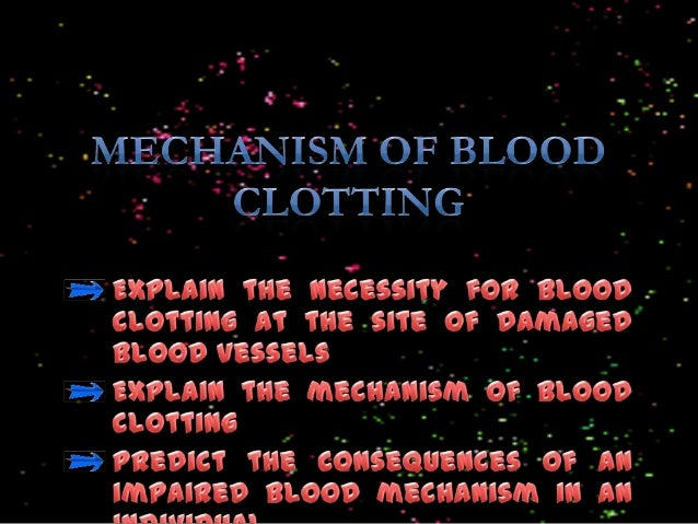 Injury in blood vessels  Platelets  Platelets clump at the wound Release of thrombokinase  Vitamin K  Prothrombin  Thrombo...