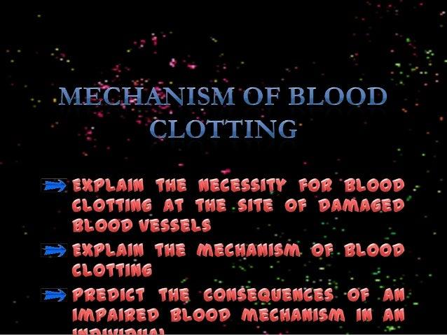 F5 1.3 mechanism of blood clotting